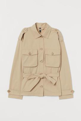 H&M Tie-belt utility jacket