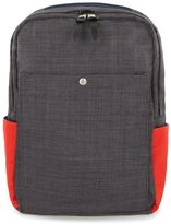 Topman Charcoal, Navy and Red Panelled Backpack
