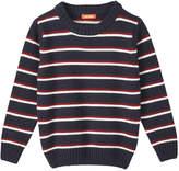 Joe Fresh Toddler Boys' Stripe Sweater, JF Midnight Blue (Size 5)
