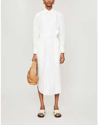 Brunello Cucinelli Striped cotton midi dress