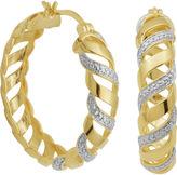 JCPenney FINE JEWELRY Diamond-Accent San Marco Hoop Earrings