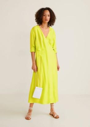 MANGO Buckle flowy dress