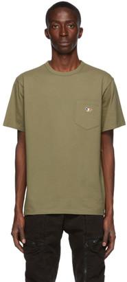 MAISON KITSUNÉ Khaki Tricolor Fox T-Shirt