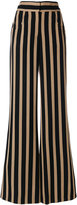 Etro striped flared trousers