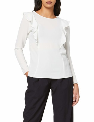 New Look Women's Phoebe Frill Long Sleeve Top