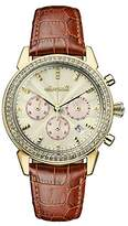 Ingersoll Women's The Gem Quartz Watch with Gold Dial and Tan Leather Strap I03902