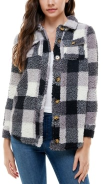 Derek Heart Juniors' Plaid Button-Down Jacket