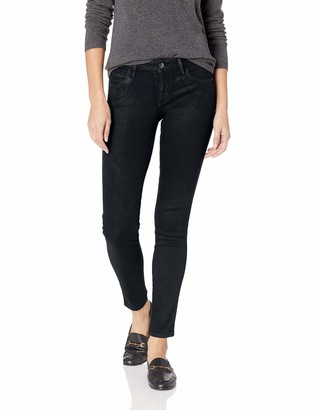 GUESS Women's High Gloss Coated Sexy Curve Jean