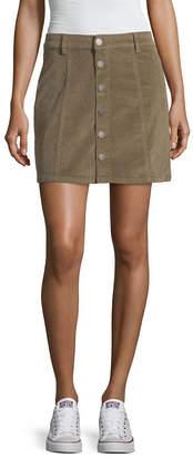 YMI Jeanswear Womens Stretch Short A-Line Skirt-Juniors
