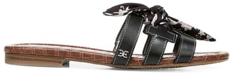 Sam Edelman Bay Flat Fabric & Leather Sandals