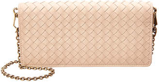 Bottega Veneta Intrecciato Leather Continental Wallet On Chain