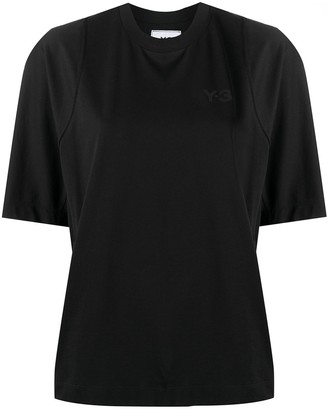 Y-3 piped-trim cotton T-shirt