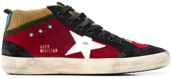 Golden Goose Mid Star corduroy sneakers