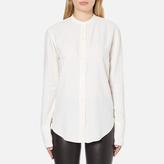 Helmut Lang Women's Back Knot Long Sleeve Blouse White