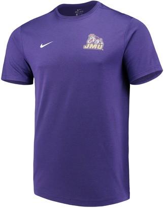 Nike Men's Purple James Madison Dukes Coaches T-Shirt