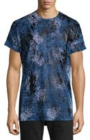 Robin's Jeans Coated Paint-Splatter Short-Sleeve T-Shirt, Black