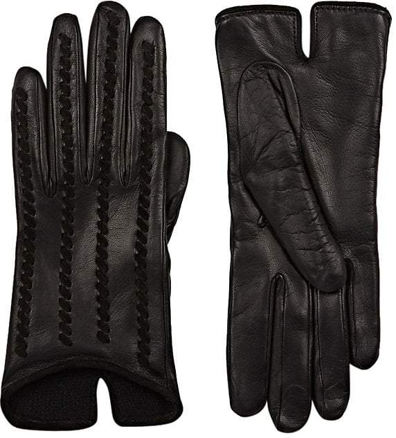 Barneys New York Women's Whipstitched Leather Gloves