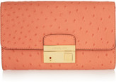 Michael Kors Gia ostrich-effect leather clutch