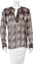 Etoile Isabel Marant Printed Silk Top w/ Tags