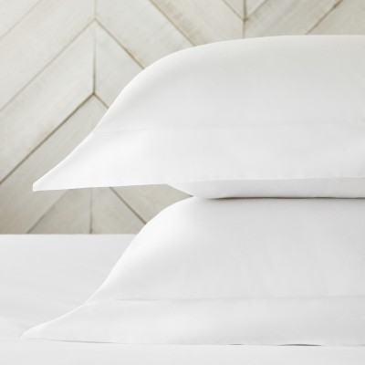 The White Company Essentials Egyptian Cotton Oxford Pillowcase with Border - Single, White, Standard