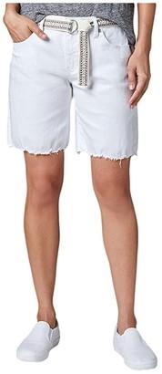 Jag Jeans Demi Belted Denim Boyfriend Shorts (White) Women's Shorts