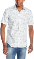 Bugatchi Men's Nazario Short Sleeve Shaped Button Down Shirt