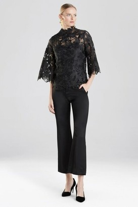 Natori Guipure Lace Blouse With Cami