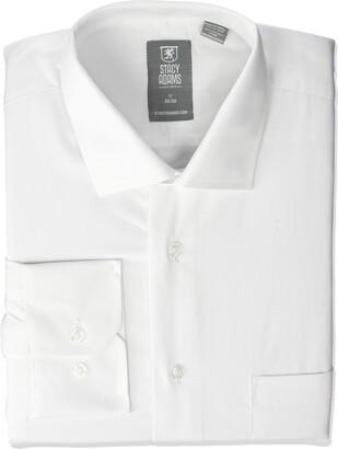 Stacy Adams Men's Big & Tall Big-Tall Solid Regular Cuff Dress Shirt