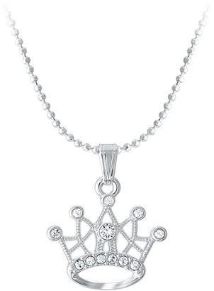 Disney Princess Crown Swarovski Crystal Necklace