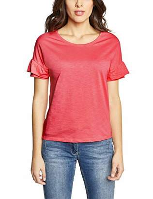 Cecil Women's 313365 T - Shirt, Neo Coralline Red 11664, Large