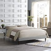 Modway Sherry Light Gray Fabric Bed with Round Tapered Legs