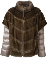 Liska layered padded fur jacket