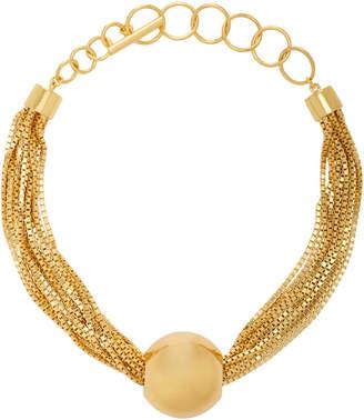 Bottega Veneta 18k Gold Ball Chain Necklace