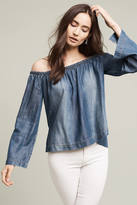 Cloth & Stone Chambray Off-The-Shoulder Top