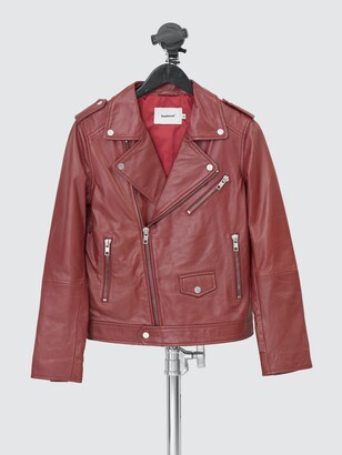 Deadwood Women's River Burgundy Leather Jacket