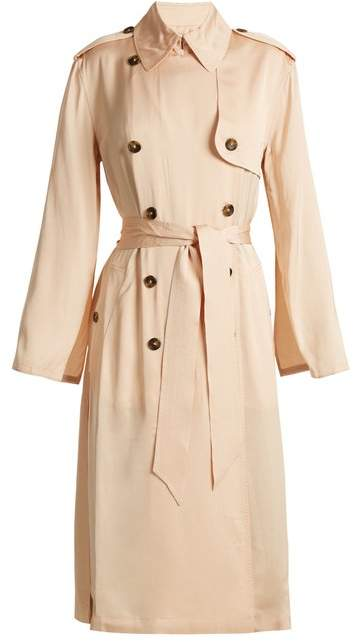 Elizabeth and James Aaron Double Breasted Tie Waist Trench Coat - Womens - Nude