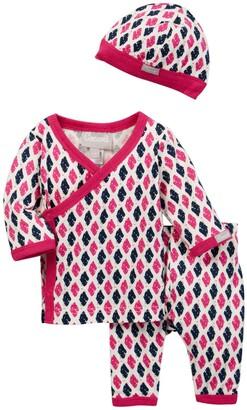 Coccoli Foulard Print Kimono Shirt, Pant & Hat Set