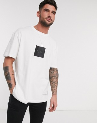Topman t-shirt with back print in white