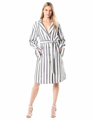 J.o.a. Women's Longsleeve Shirt Dress with Tie Cuffs