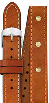 Michele Calf Leather Watch Strap, Saddle