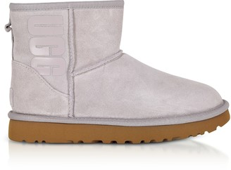 UGG Mini Classic Rubber Logo Feather Boots