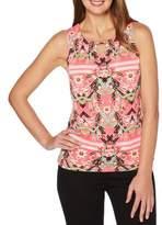 Rafaella Printed Blossoms Sleeveless Top