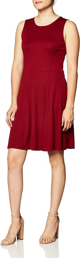 Thumbnail for your product : Lark & Ro Women's Sleeveless Wide Scoop Neck Fit and Flare Dress