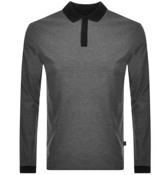 HUGO BOSS Boss Business Pittman Long Sleeved Polo Grey