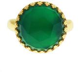 Heather Hawkins - Splendor Rose Cut Ring - Green Onyx / Yellow Gold