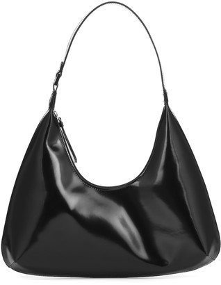 BY FAR Amber patent leather shoulder bag