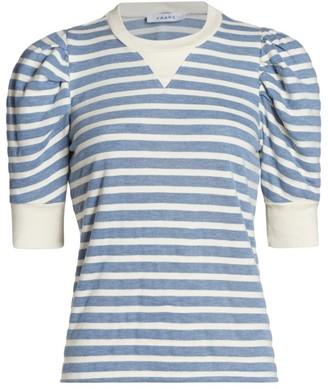 Frame Vintage-Look Shirred T-Shirt