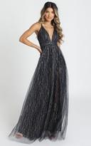 Showpo Orlando Maxi Dress in navy glitter - 8 (S) Wedding Guest