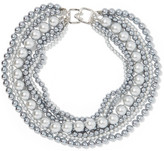 Kenneth Jay Lane Faux Pearl Necklace - Gunmetal