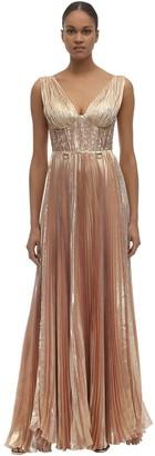 Maria Lucia Hohan Aziza Lurex Chiffon Long Dress